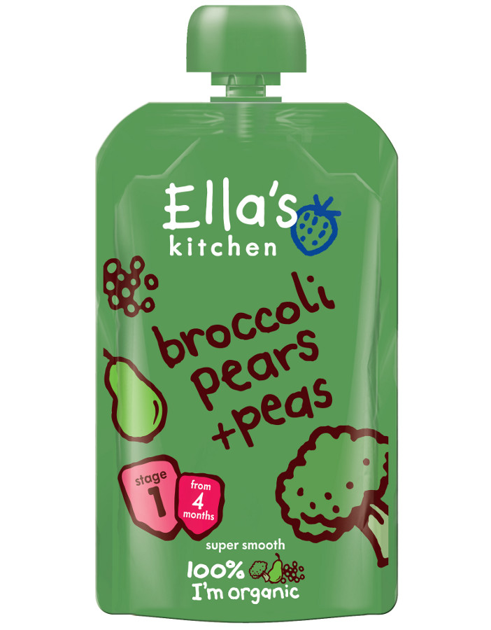 Ella Kitchen Broccoli Pear Peas 120g