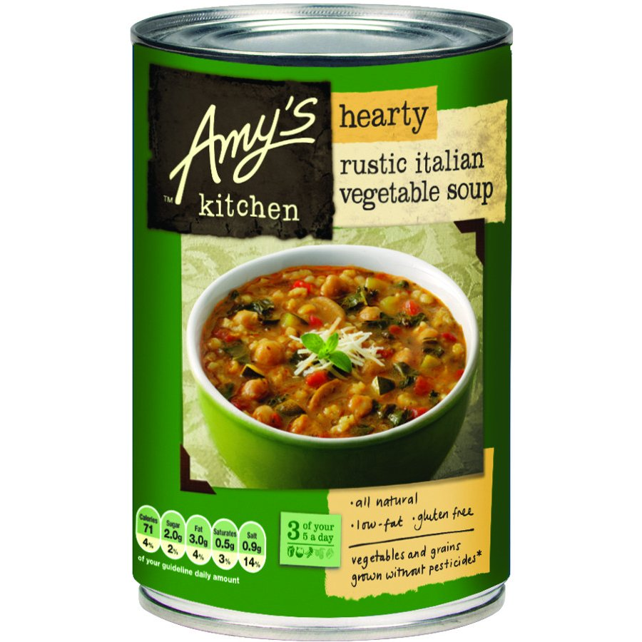 Amys Kitchen Hearty Rustic Italian Vegetable Soup  397g  Amys Kitchen