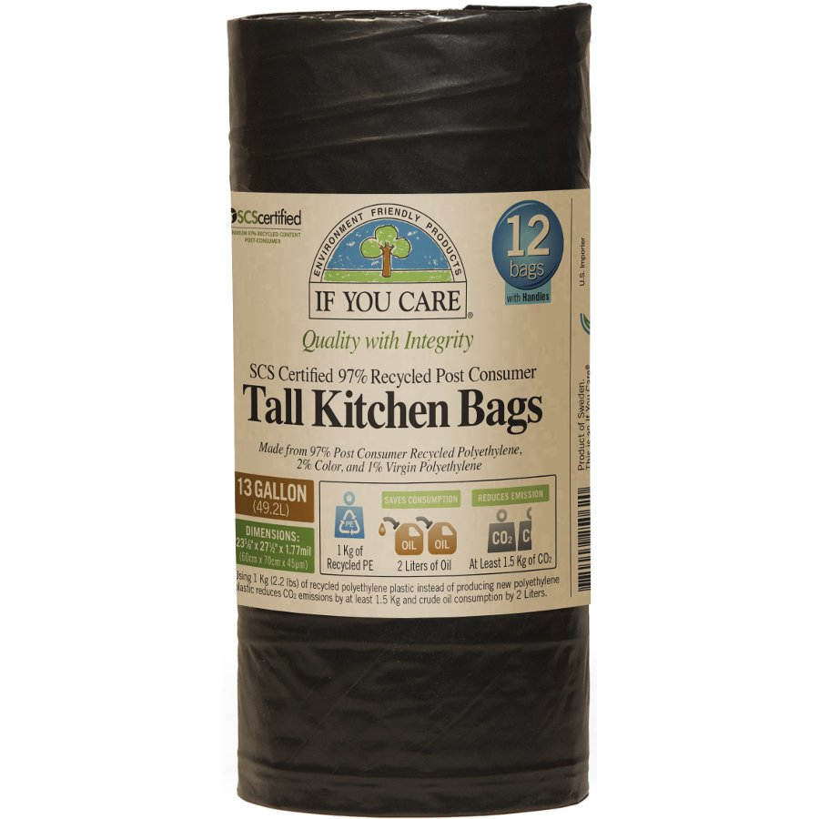 tall kitchen bin home depot packages if you care recycled drawstring bags 49l 12