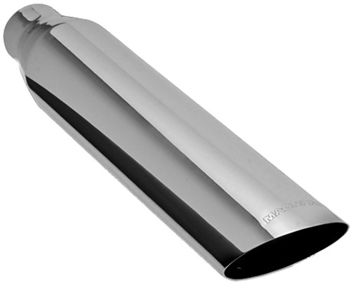magnaflow 3 1 2 exhaust tip stainless weld on for 2 1 2 tailpipe