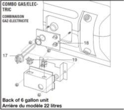 Where is Replacement Water Heater Element in Atwood GC6AA