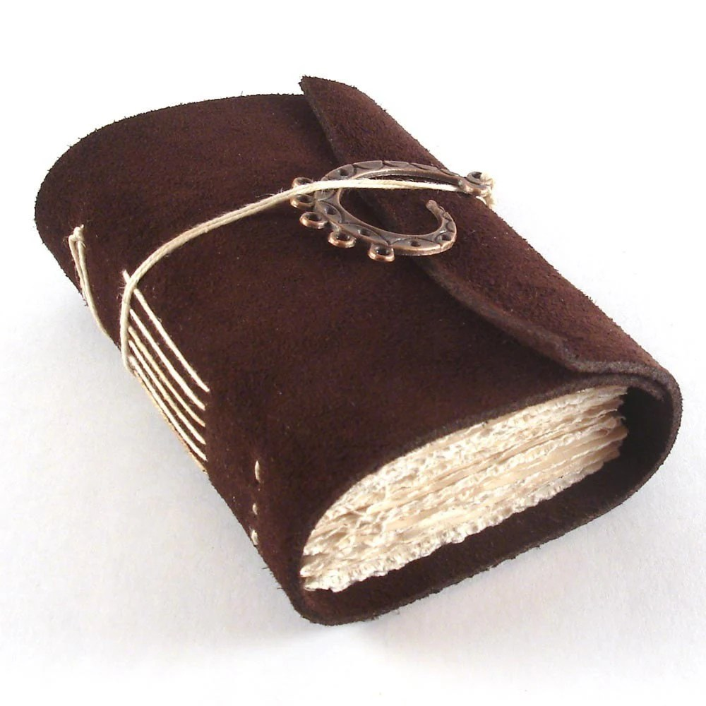Dark Chocolate, Mini Leather Journal