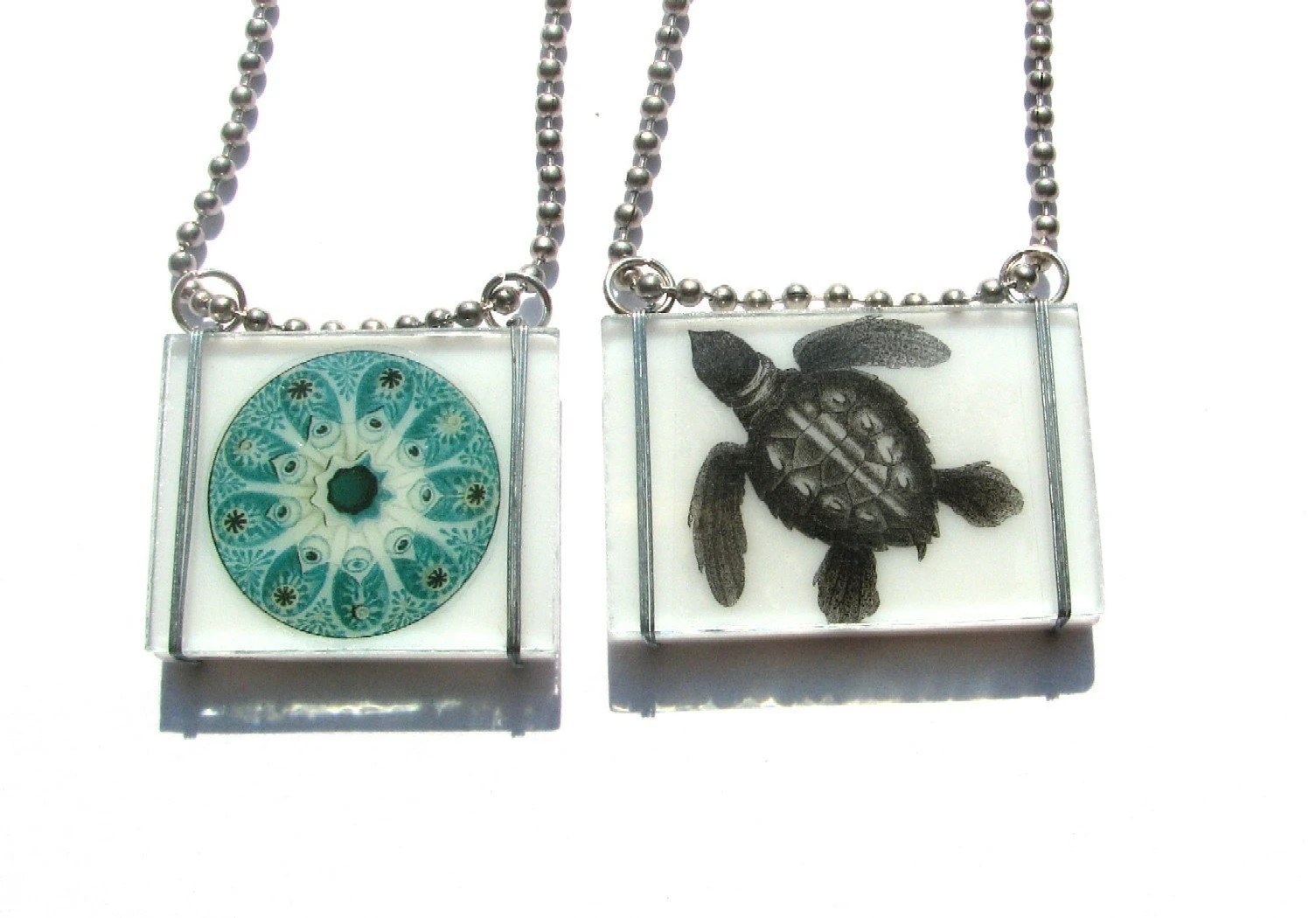Sea Life Glass Necklace