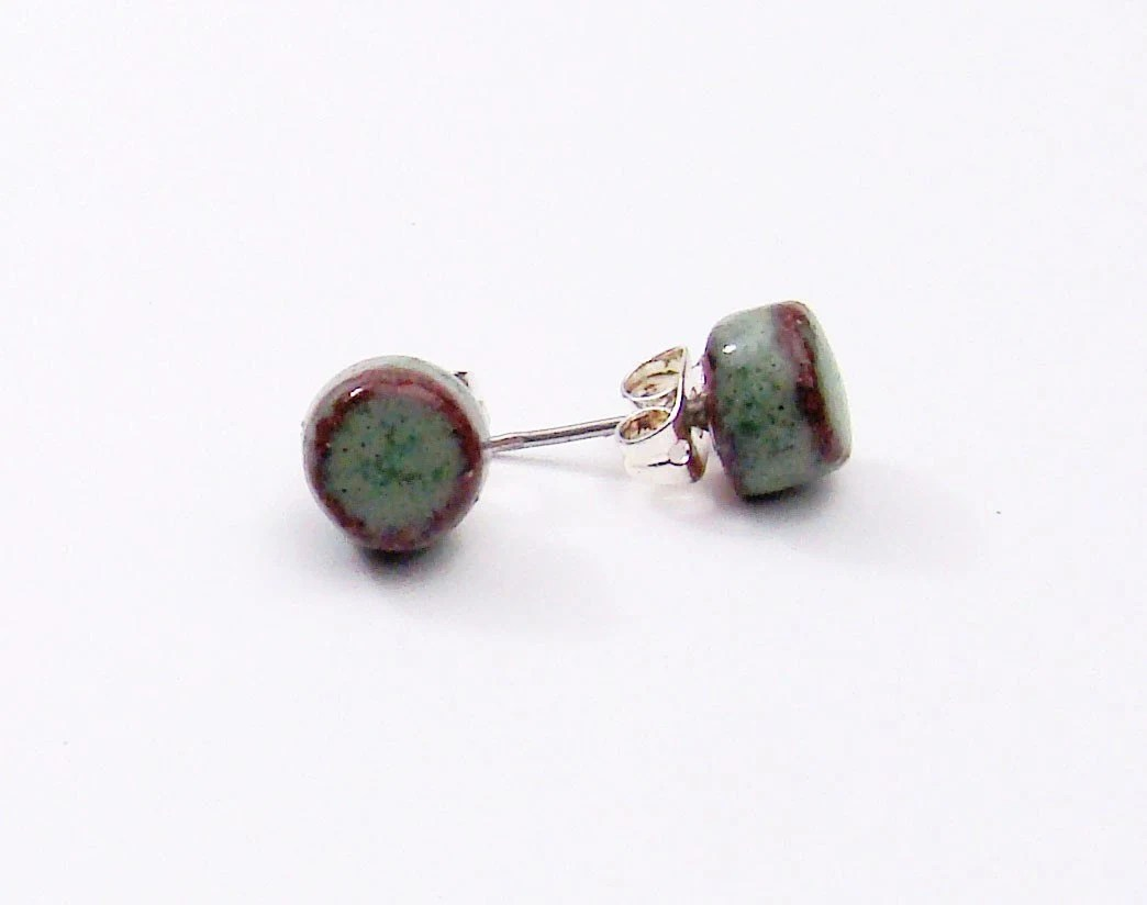 Moss Green Post Earrings