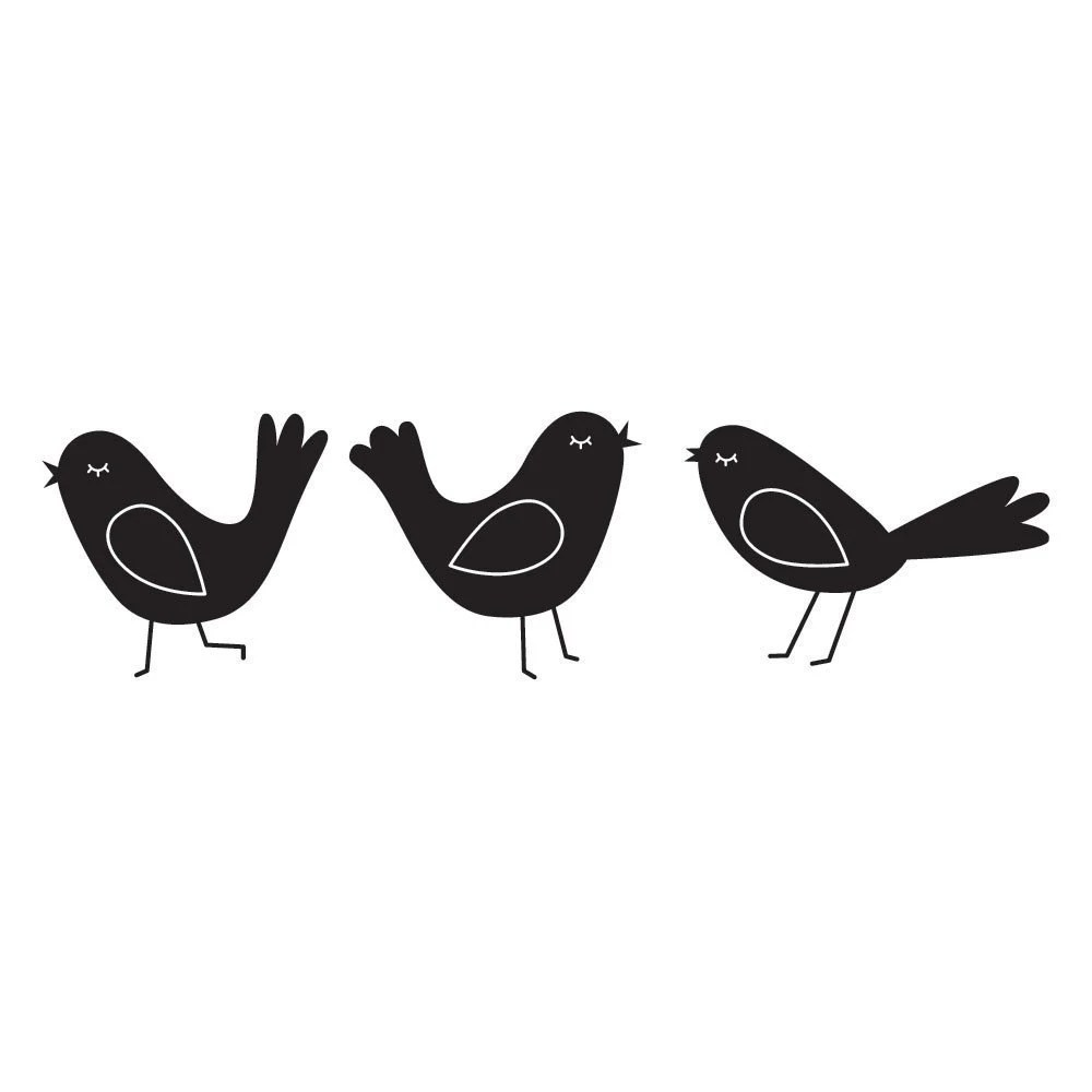 Three Birds Wall Decals