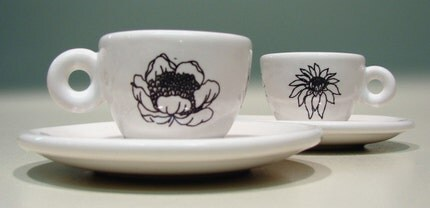 flora espresso cups (set of 2)