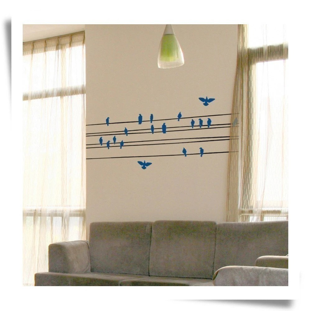 Perched wall graphic
