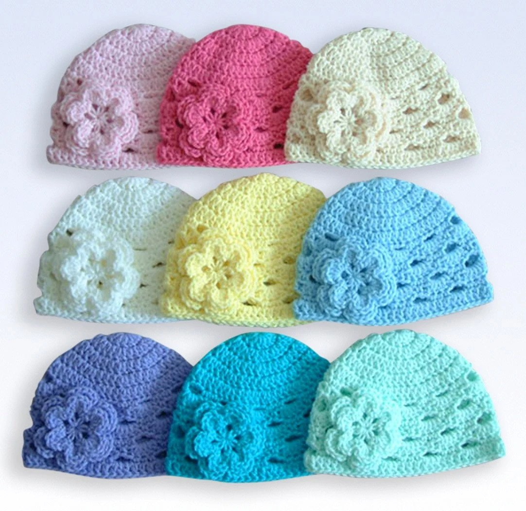 INTRODUCTION SALE 1-2T Crochet Beanie Cap With Flower