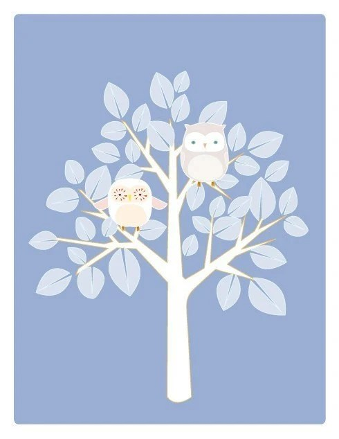 Winter Owl Tree