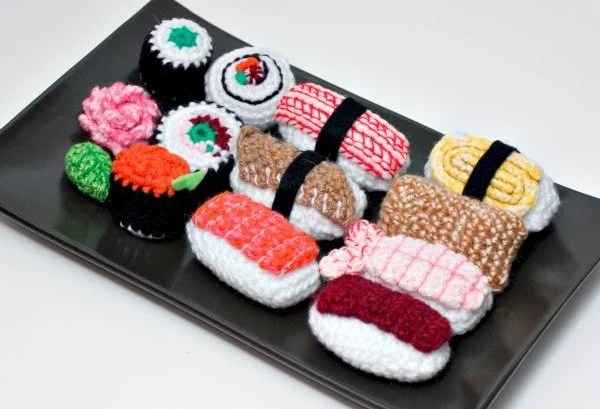 Crochet Amigurumi Sushi by NeedleNoodles on Etsy