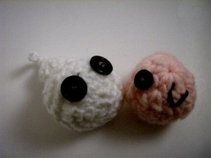 Mr. Spermie and Ms. Ova Pin Cushions