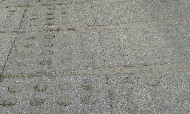 E-018 Modern Concrete Road Panels (Perforated) @ Eureka