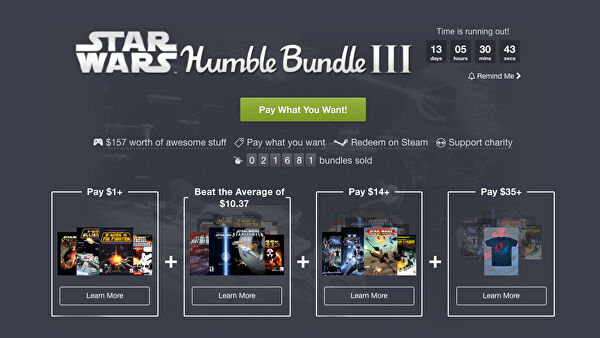 Jelly Deals Roundup Star Wars Humble Bundle Deus Ex Titanfall 2 And More