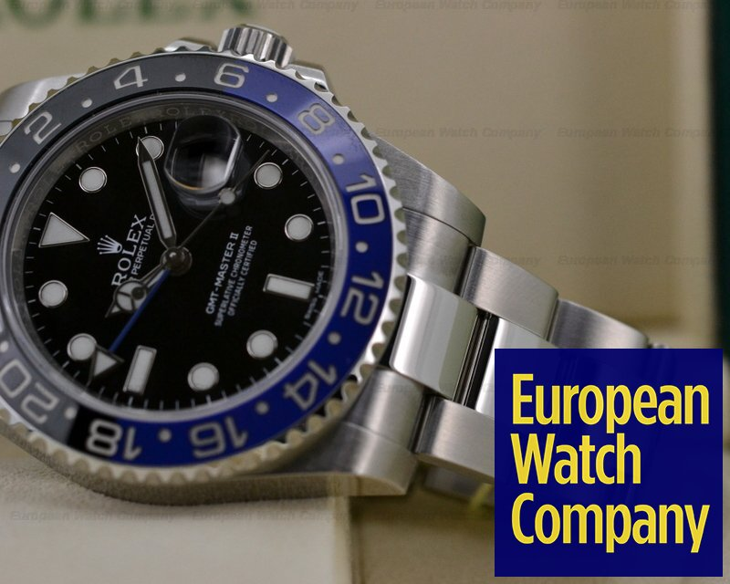 (20922) Rolex 116710BLNR GMT Master II Ceramic Black & Blue SS
