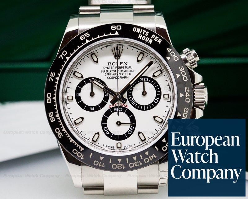 (25323) Rolex 116500ln Daytona Ceramic Bezel Ss  White Dial