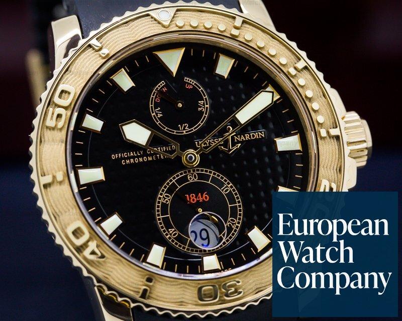 (26920) Ulysse Nardin 26633 Maxi Marine Diver Black Rg