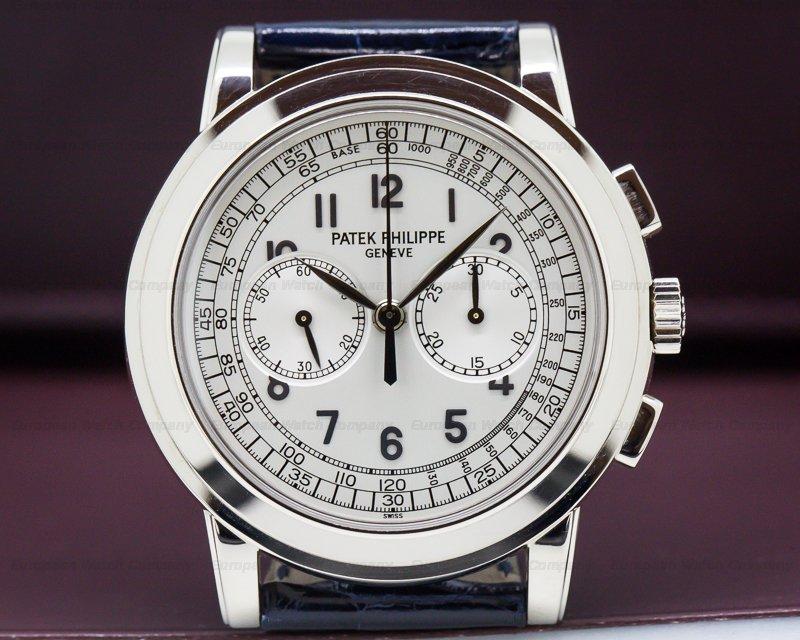 (28331) Patek Philippe 5070G 5070 White Gold Chronograph UNPOLISHED