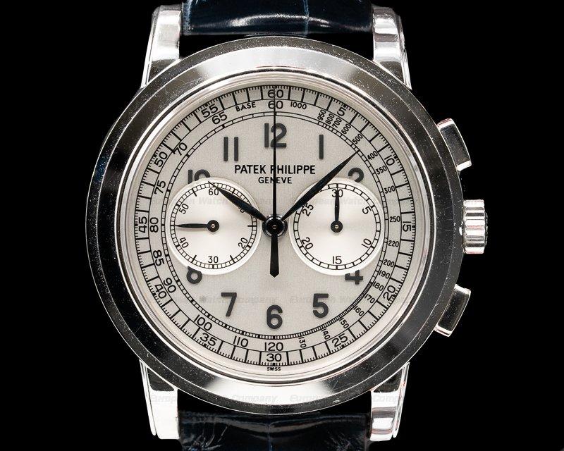 (30832) Patek Philippe 5070G 5070 White Gold Chronograph UNPOLISHED