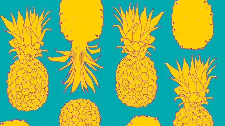 illustration of pineapples