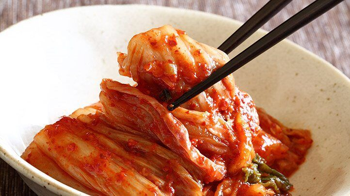 kimchi, a fermented food, which is good for people with depression