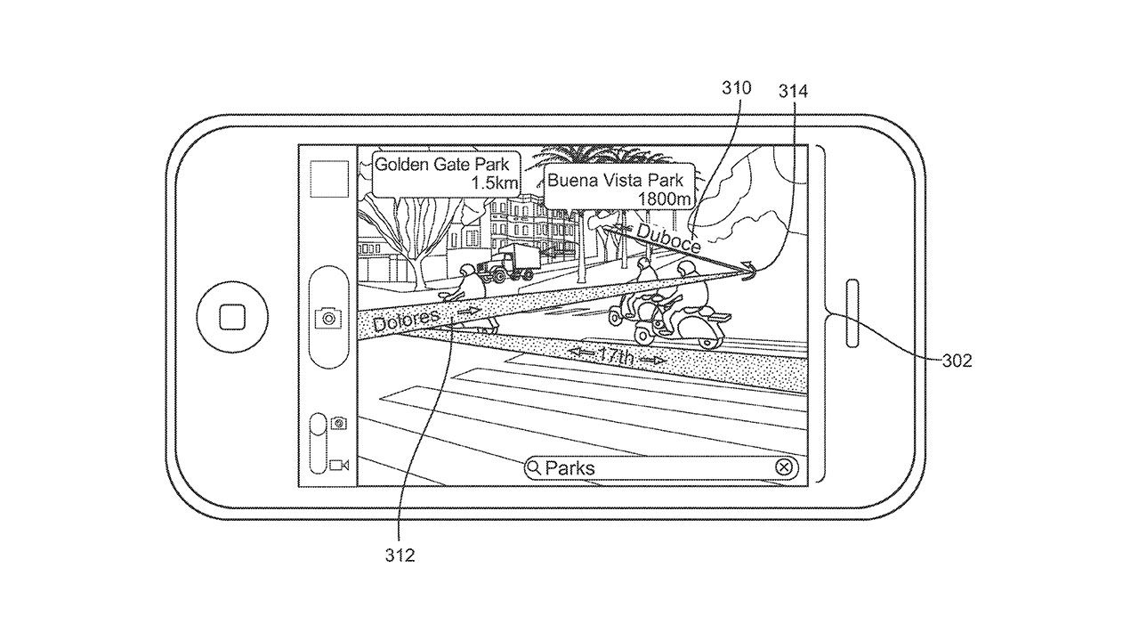Apple brevetta le mappe in realtà aumentata su iPhone