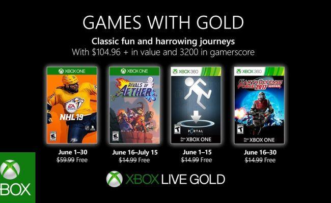 Games With Gold Giugno 2019 Nhl 19 E Portal Tra I Nuovi