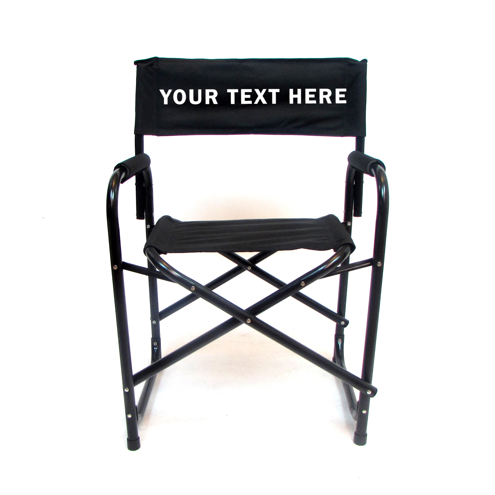 aluminum directors chair revolving parts ahmedabad embroidered personalized all 18 inch