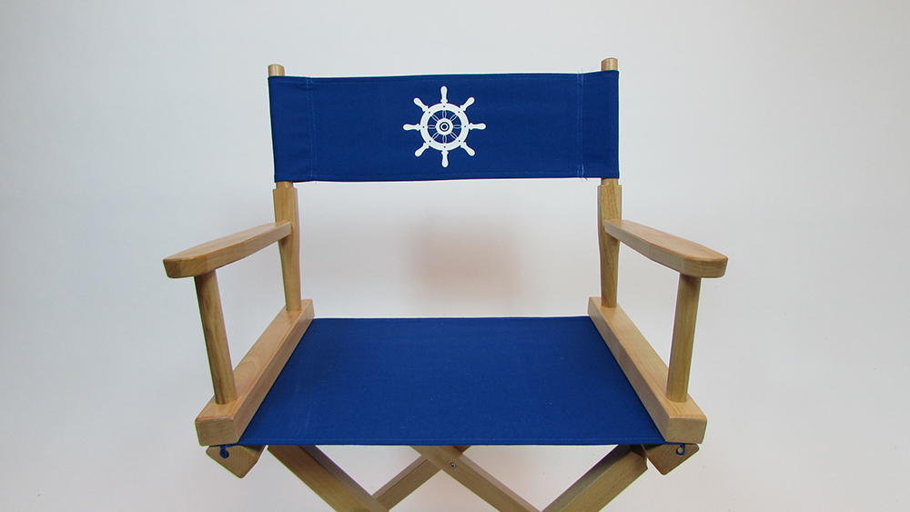 CUSTOM SIZE Marine Themed Replacement Directors Chair Cover