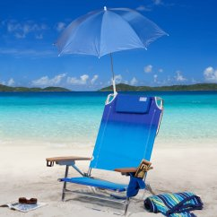 Chair With Umbrella Attached Camping Chairs Side Table Rio Beach Clamp On