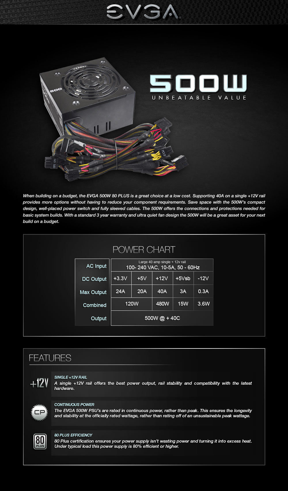 code alarm elite 1100 wiring diagram asco 4000 evga products 500 w1 80 white 500w 3 year warranty cable length