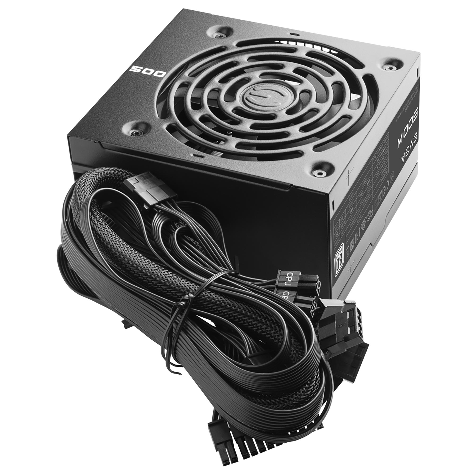 hight resolution of evga 500 w1 80 white 500w 3 year warranty power supply 100 w1 0500 kr
