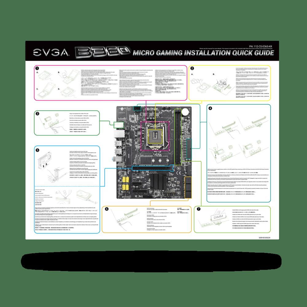 medium resolution of evga asia products evga b360 micro gaming 112 cs e365 kr lga 1151 intel b360 nu audio sata 6gb s usb 3 1 gen2 usb 3 1 gen1 matx