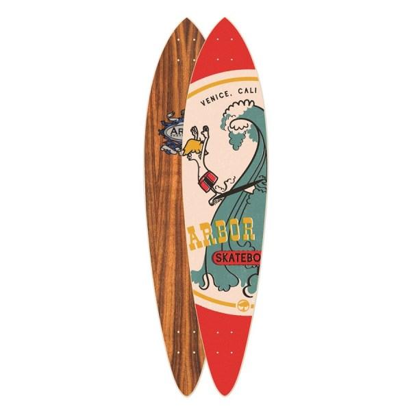 Arbor Fish Koa Longboard Deck Evo Outlet