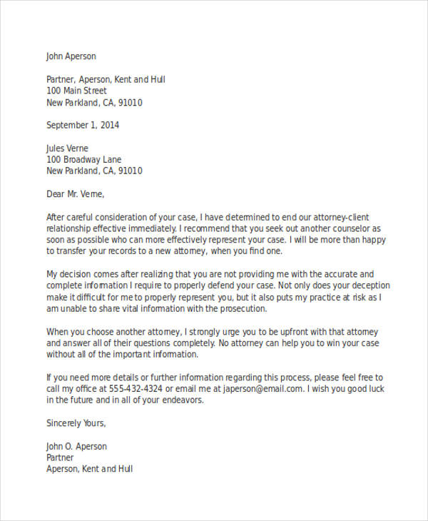 61 Termination Letter Examples  Samples  PDF DOC  Examples