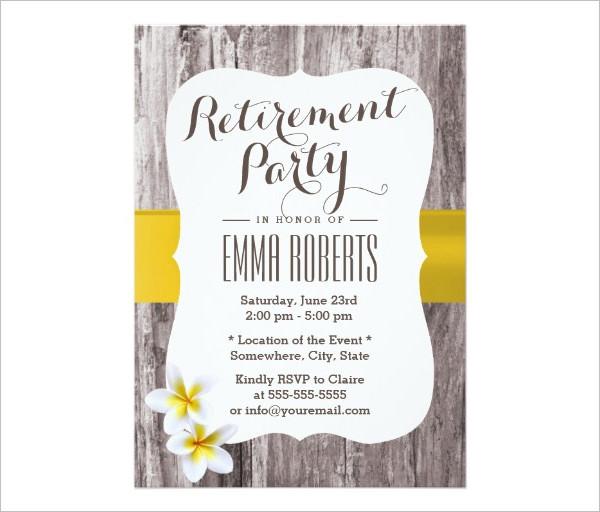 retirement party flyer wording