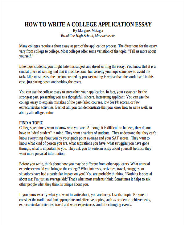 How To Write A College Application