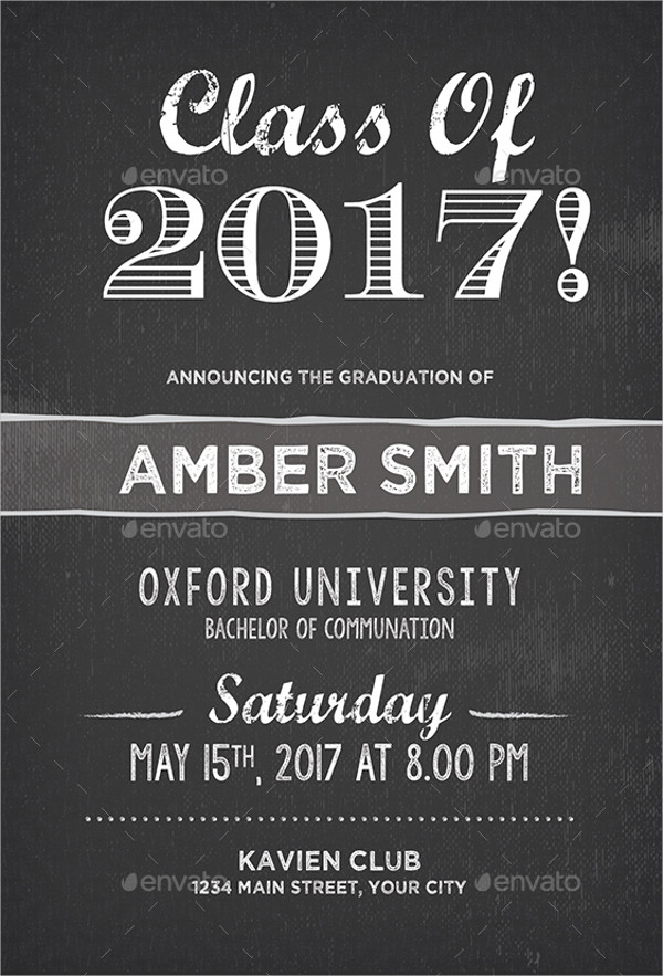 FREE 31 Examples of Graduation Invitation Designs in PSD