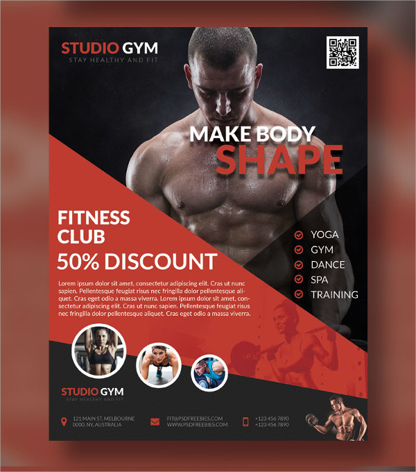 38 Fitness Flyer Designs & Examples PSD AI Vector EPS