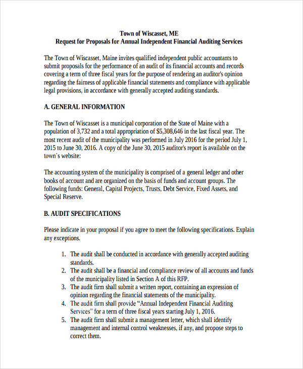 32 Request For Proposal Examples Word PDF Examples