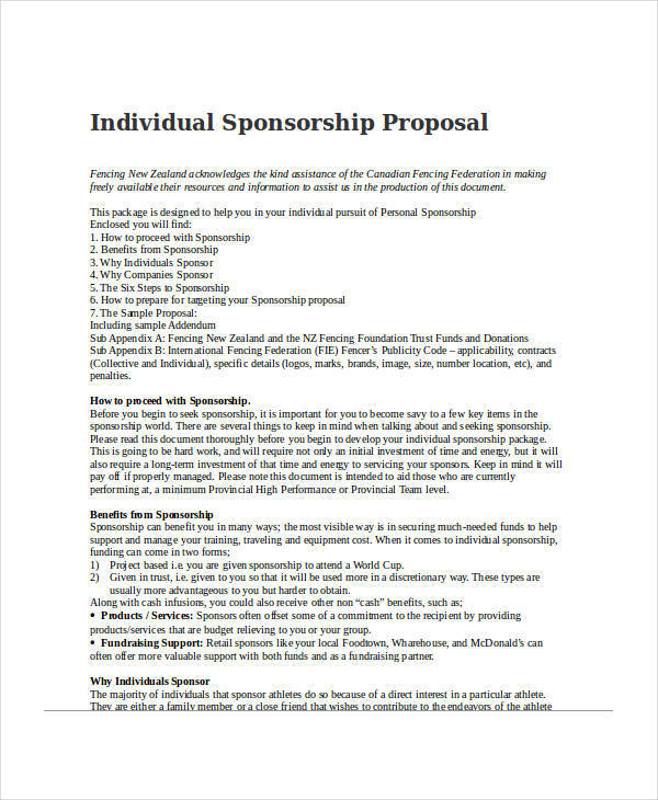 42 Sponsorship Proposal Examples & Samples PDF Word
