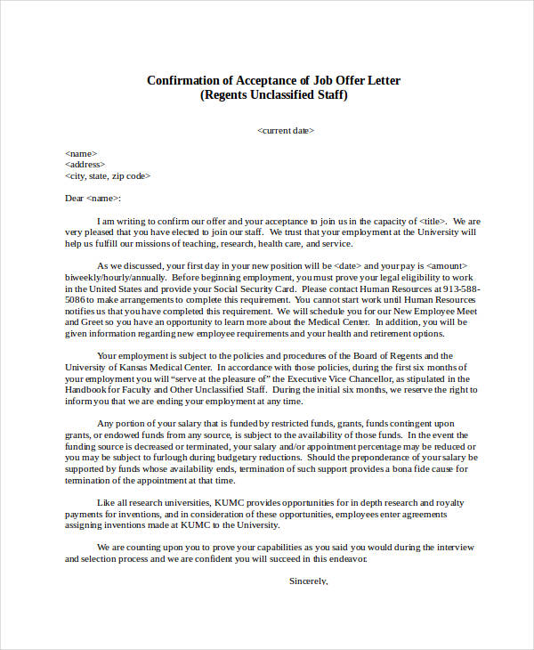 60 Appointment Letter Examples & Samples PDF DOC