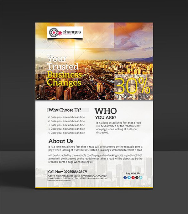 FREE 49 Business Flyer Designs  Word PSD AI Publisher
