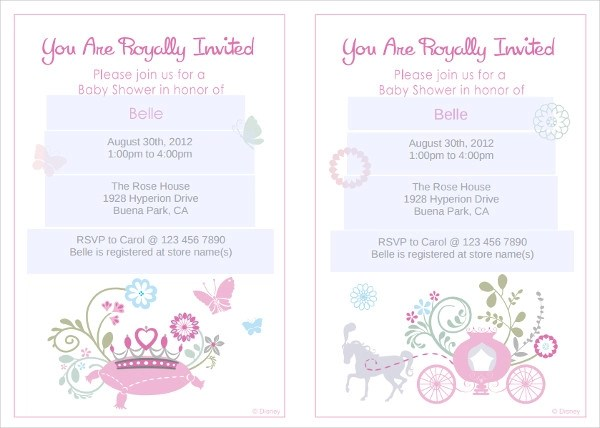Baby Shower Invitations Diaper
