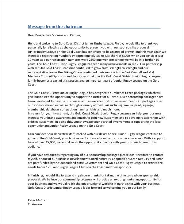 42 Sponsorship Proposal Examples & Samples PDF Word