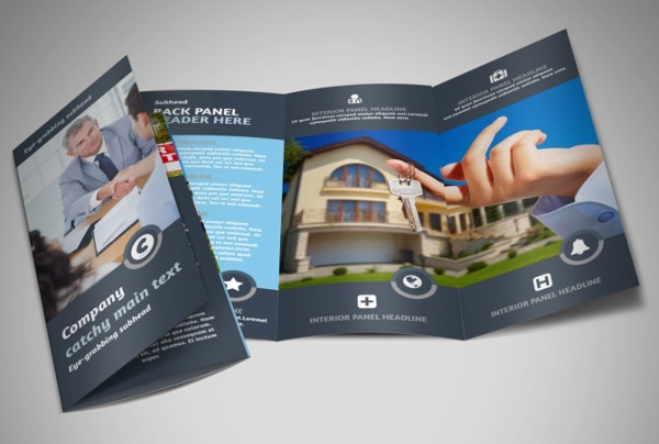 35 Real Estate Brochure Designs & Examples PSD Word