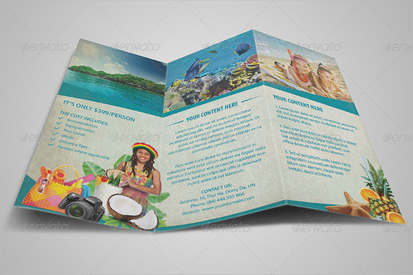 Tri Fold Travel Brochure Example Ideal Vistalist Co