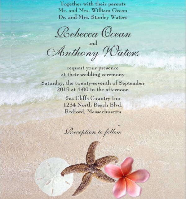 Examples Of Wedding Invitation Designs