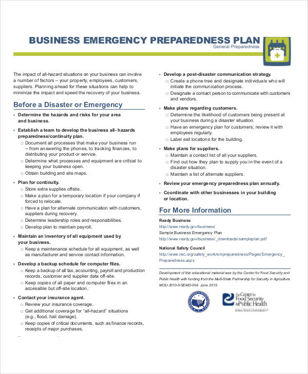 Company emergency response plan remote it management software 27 emergency plan examples friedricerecipe Images