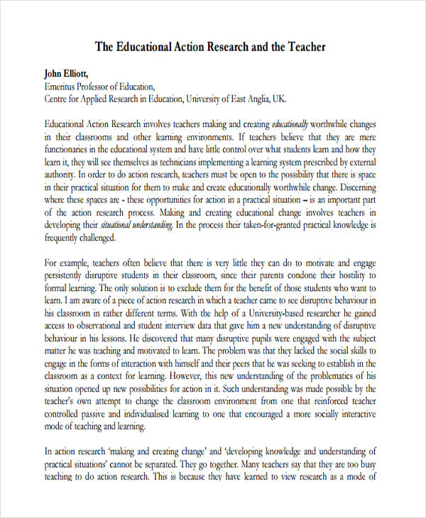 9 Action Research Proposal Examples PDF