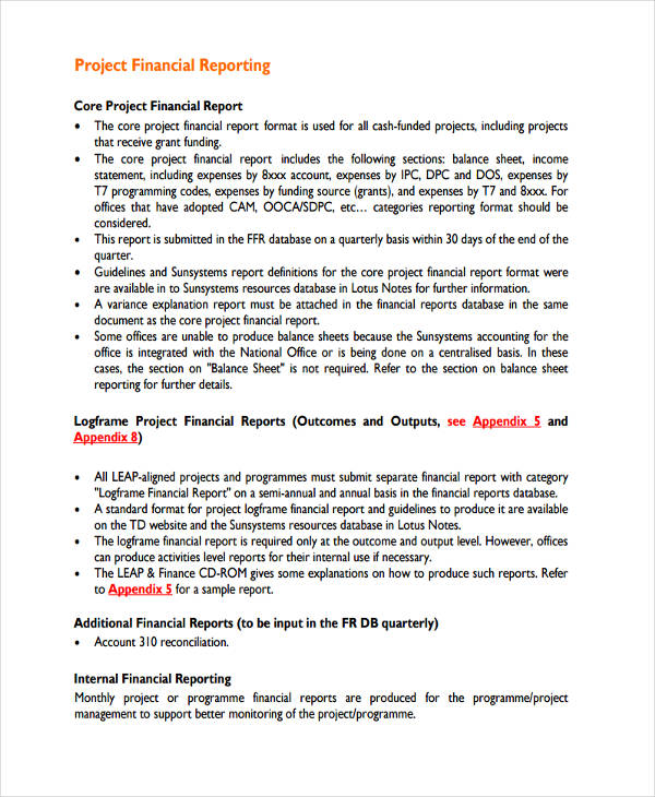 formal business report examples